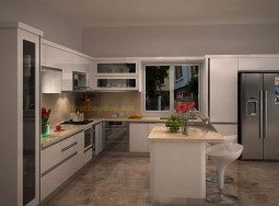 Làm tủ bếp inox MT01