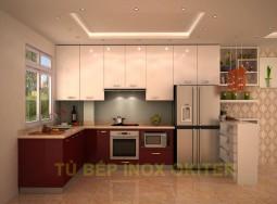 Tủ bếp inox chị Linh TDT2