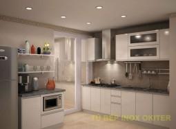 Tủ bếp inox chị Minh ECC1