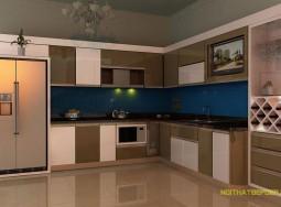 Tủ bếp inox anh Triệu PV