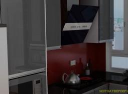 Tủ bếp inox anh Công TH