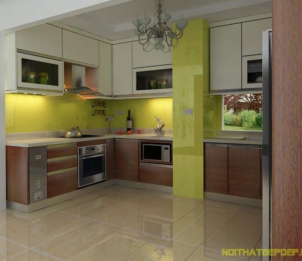 Tủ bếp inox laminate 01