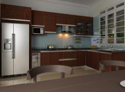 Tủ bếp inox laminate TT