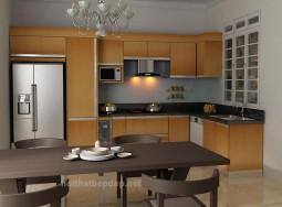 Tủ bếp inox TT canh lminate