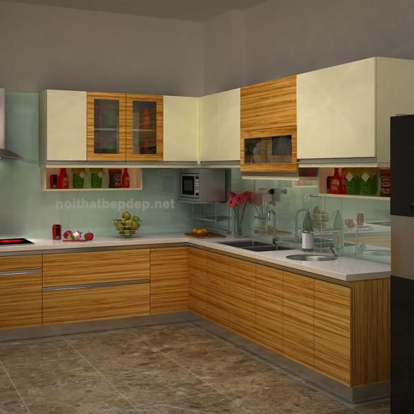 Tủ bếp inox laminate PNL-1