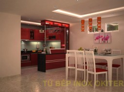 Tủ inox acrylic