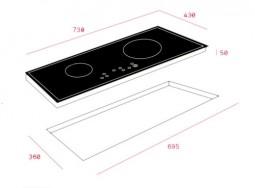 Kích thước lắp bếp từ Teka IR 721