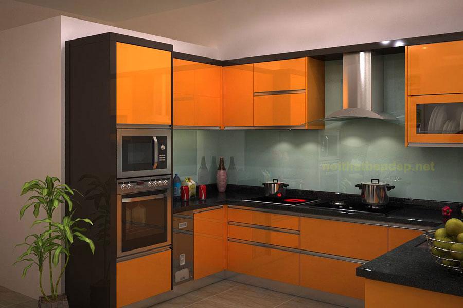 mẫu tủ bếp inox đẹp