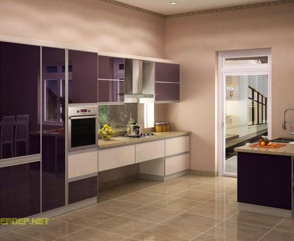 mẫu tủ bếp inox