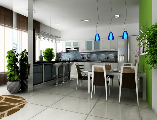 tủ bếp phải phù hợp với không gian bếp