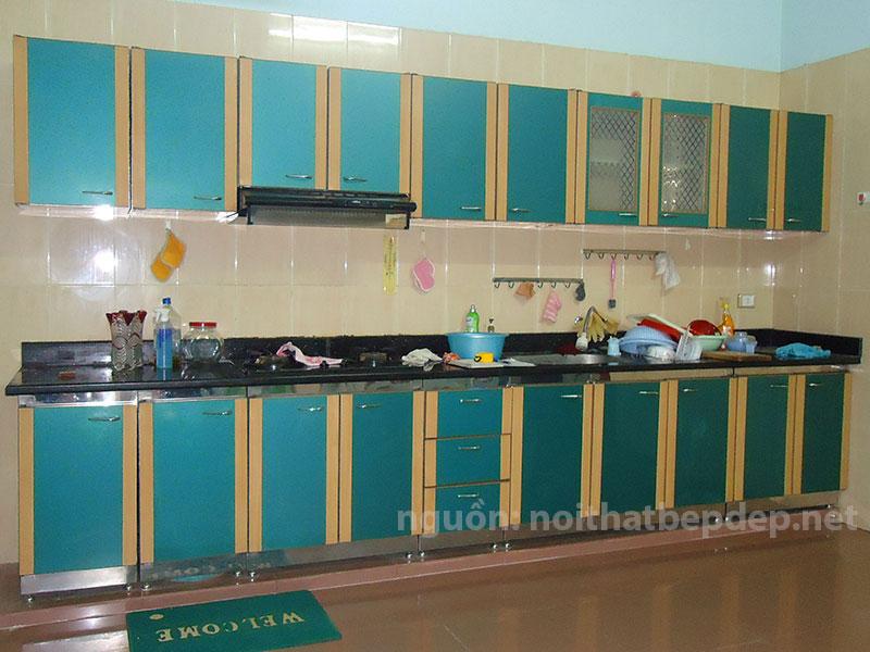 Tủ bếp inox kiểu cũ Ab32