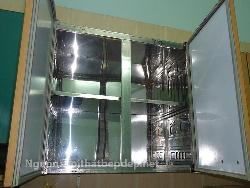 Tủ bếp inox treo tường kiểu Á