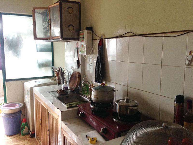 bệ xây tủ bếp