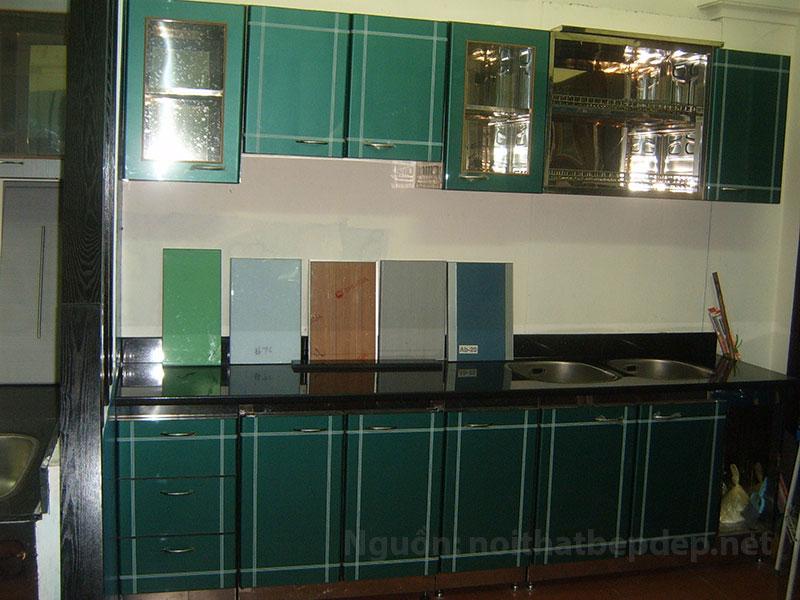 Tủ bếp inox kiểu Á mặt inox nhập khẩu