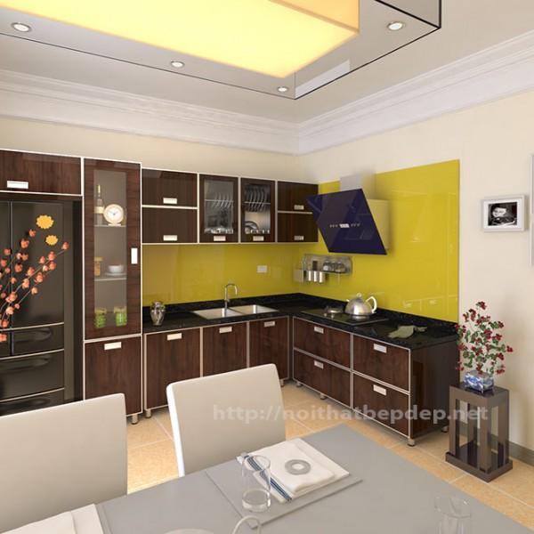 Tủ bếp inox acrylic nano 09