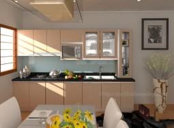 Tủ bếp inox hình chữ I