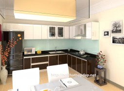 Tủ bếp inox cánh laminate 09