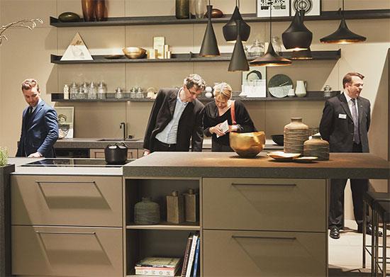 Hình ảnh tủ bếp trưng bày