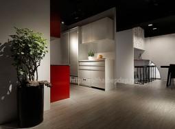 Tủ bếp trắng đỏ
