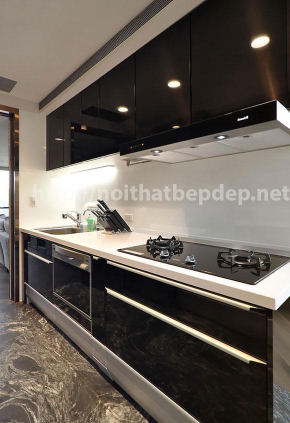 Bộ tủ bếp inox màu đen