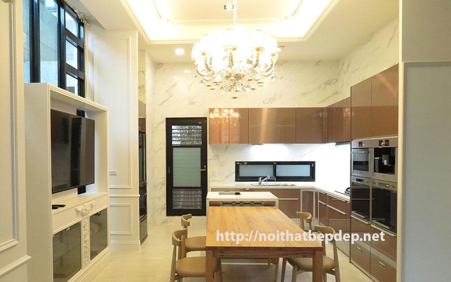 Tủ bếp bằng inox Okiter Sông Hồng Thăng Long