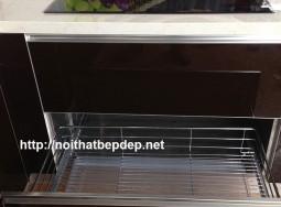 Tủ bếp inox đẹp Hà Nội- ngăn kéo xong nồi ướt