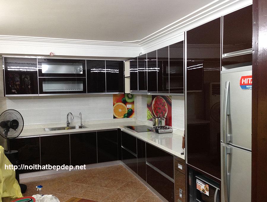 Tủ bếp inox đẹp ở Hà Nội