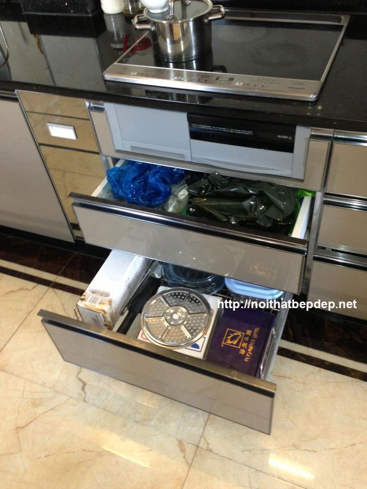 Tủ bếp inox ở Nam Định- ngăn kéo