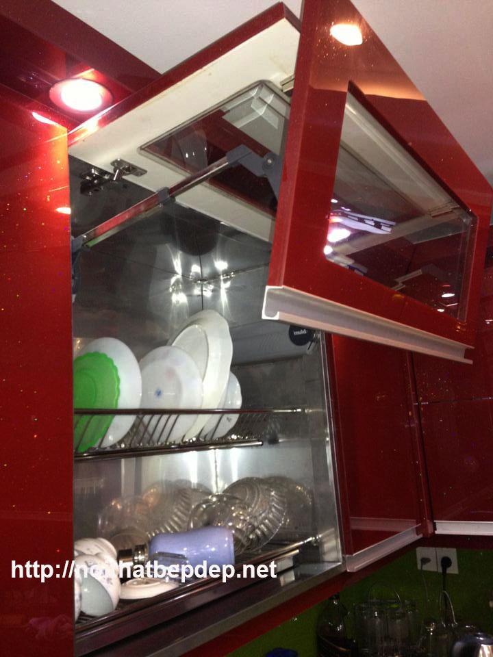 Giá úp bát đĩa inox - Tủ bếp inox ở Quảng Ninh