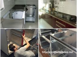 Tủ bếp bằng inox