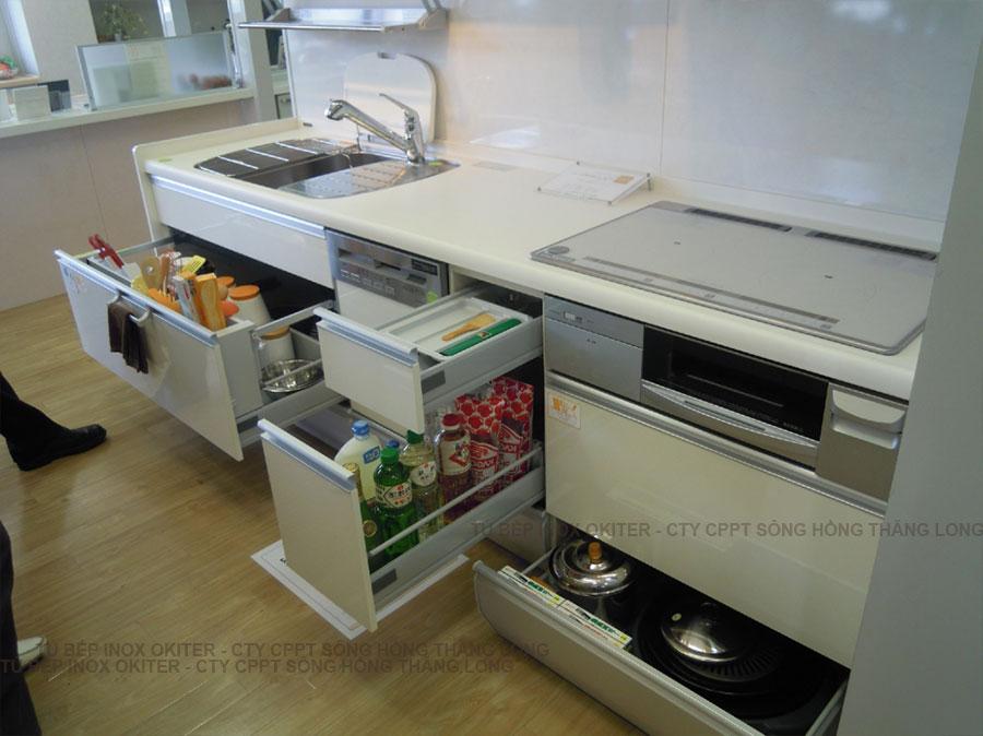 Hệ thông ngăn kéo giá trượt phụ kiện tủ bếp inox