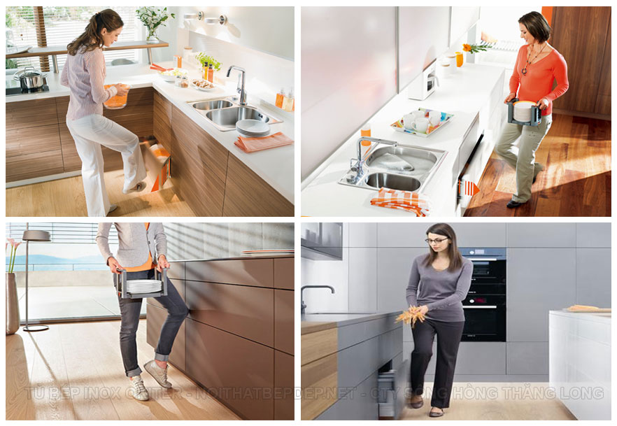 Ngăn kéo tủ bếp thông minh