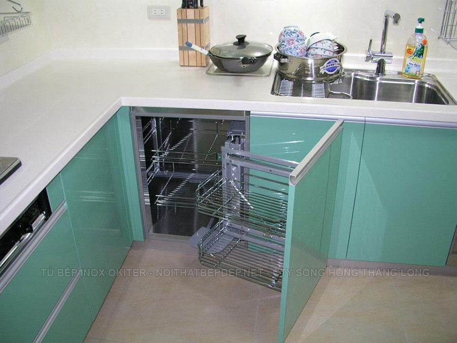 Giá kéo góc tủ bếp thông minh