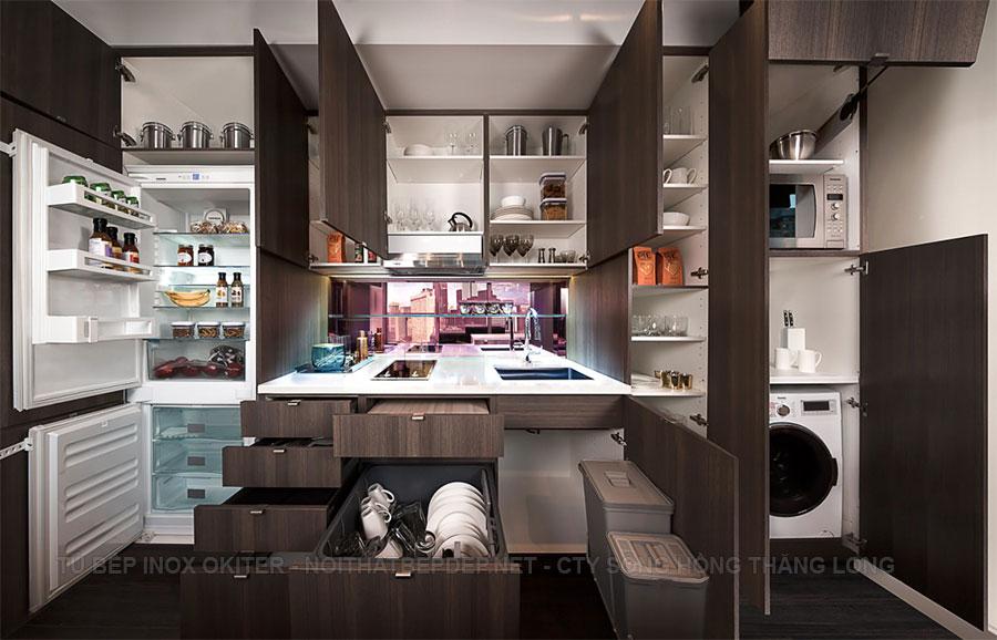 Tủ bếp thông minh cho gia đình