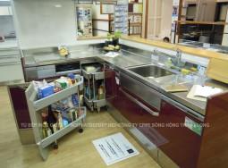 Tủ bếp inox nhập khẩu Nhật Bản tủ bên dưới;