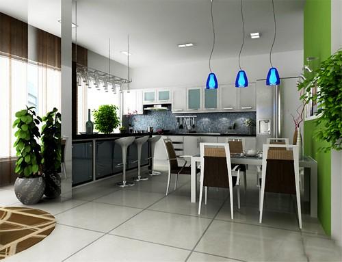 khong gian bep 2 - Lựa chọn mẫu tủ bếp inox đẹp phù hợp