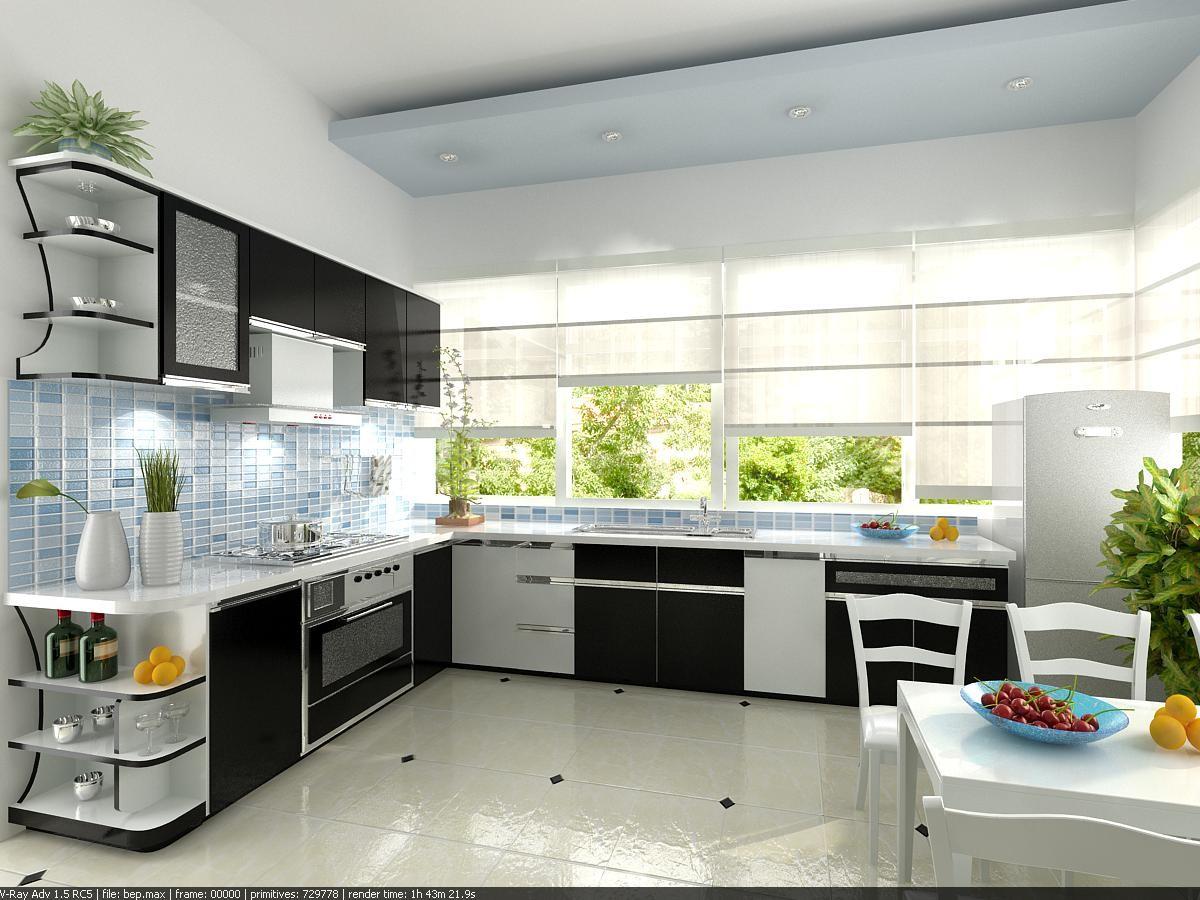 khong gian phong bep - Lựa chọn mẫu tủ bếp inox đẹp phù hợp